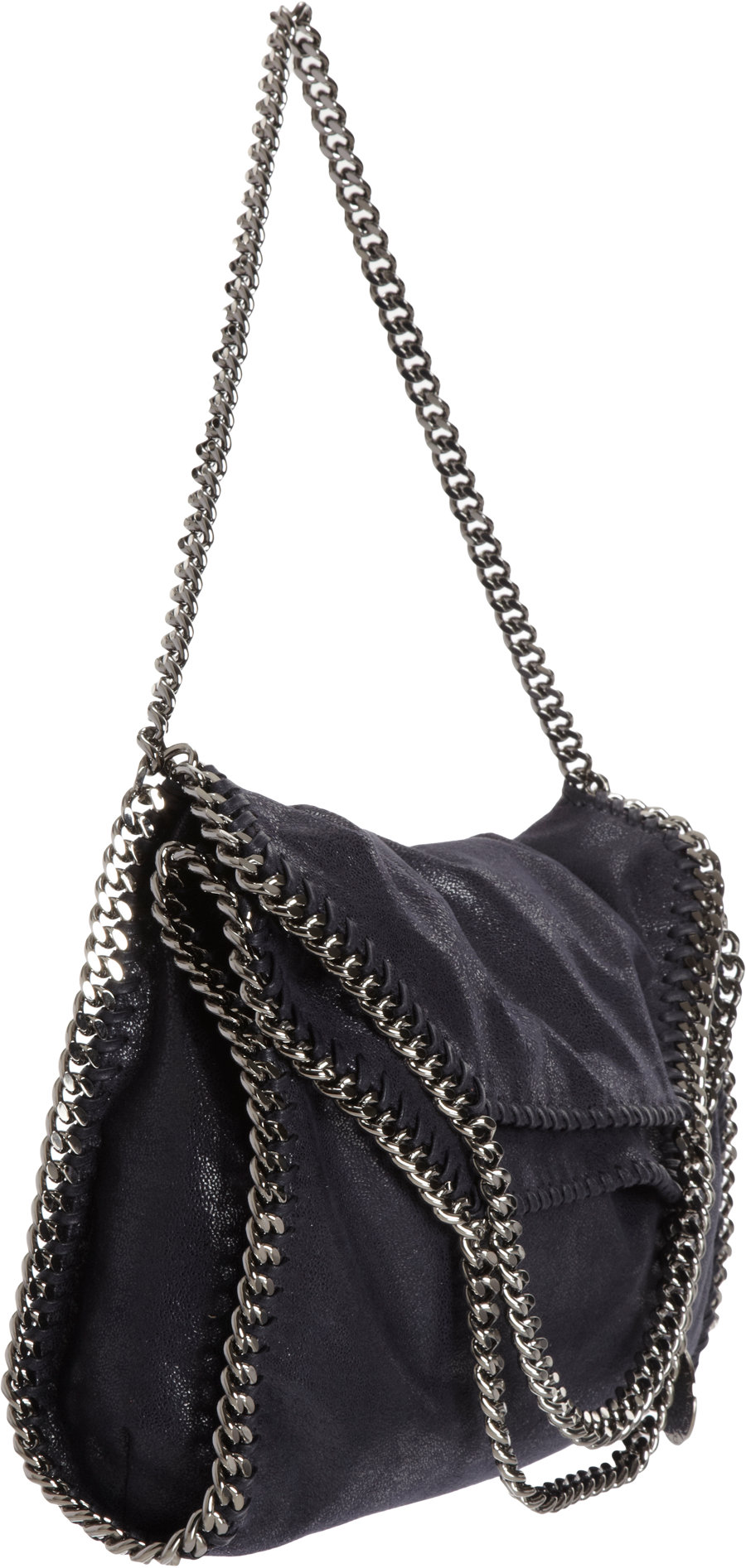 35dc5f93a3dc Stella McCartney Falabella Shaggy Deer Fold Over Tote in Gray - Lyst