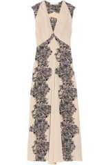 Vanessa Bruno Floral print Silk Crepe De Chine Dress - Lyst