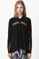 Christopher Kane Lace Cutout Blouse - Lyst