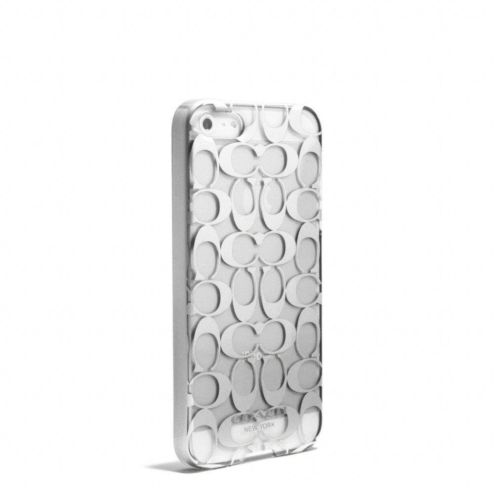 Lyst - Coach Iphone 5 Case in Metallic Signature Print in Metallic