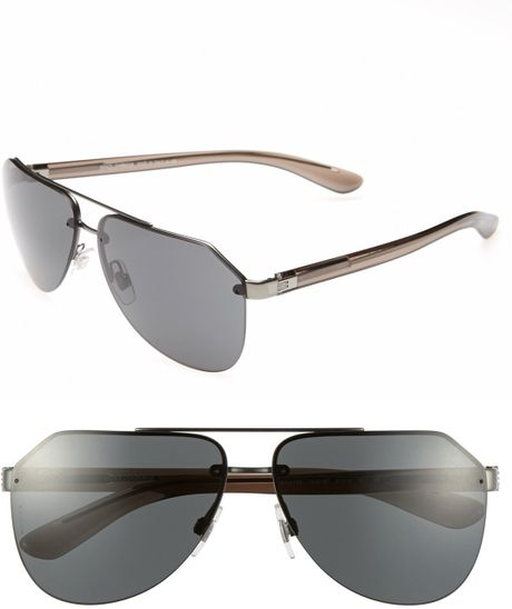 Dolce & Gabbana 61mm Polarized Rimless Aviator Sunglasses ...