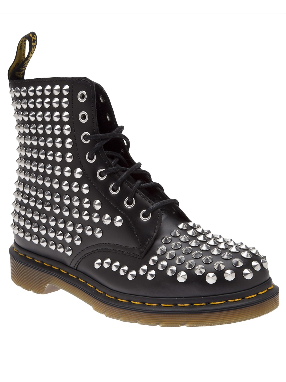 Black Spiked Shoe Boots