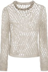 Ermanno Scervino Crystal Embellished Sweater - Lyst