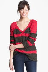 Free People Songbird Stripe Pullover - Lyst