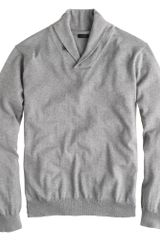 J.Crew Cotton cashmere Shawl-collar Sweater - Lyst