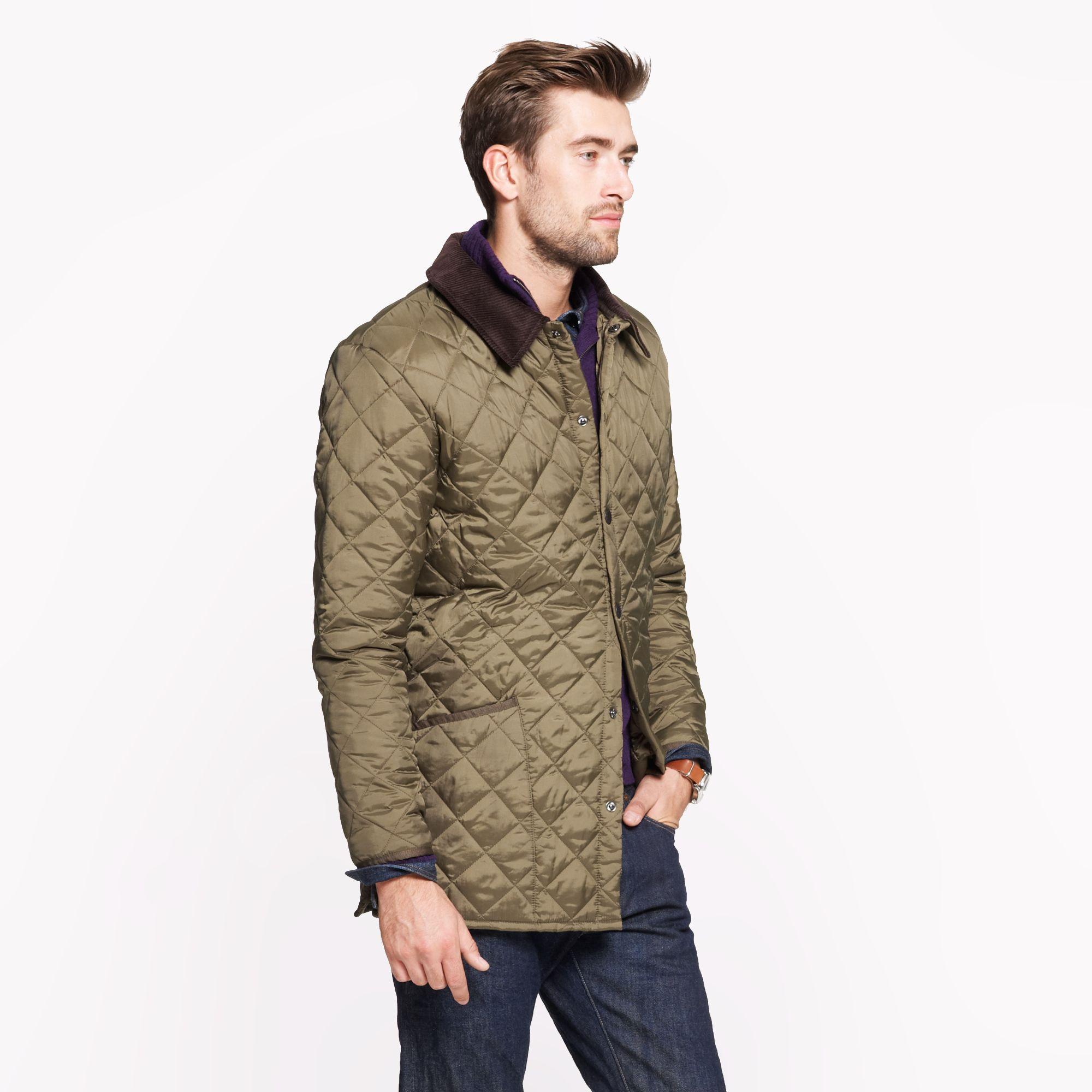 J Crew Barbour Liddesdale Jacket In Green For Men Olive