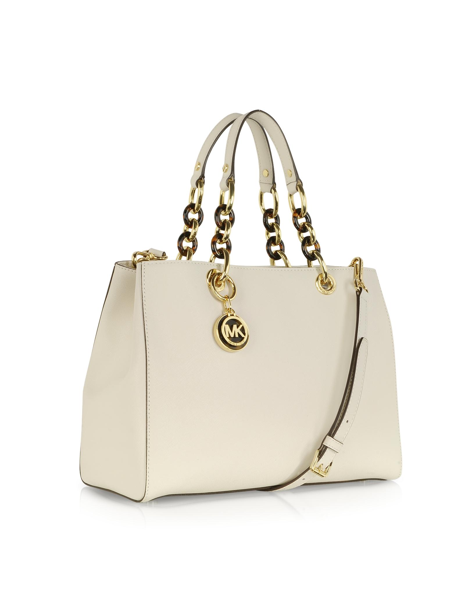 d4f6d668b662b ... bag acorn 490b7 1a43c  discount code for lyst michael kors cynthia  vanilla saffiano leather satchel in white 894c0 bbf63