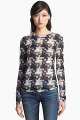 Rag & Bone Print Top - Lyst