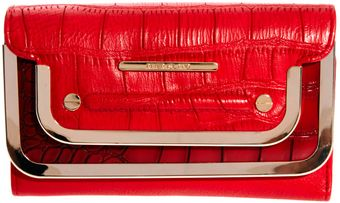 River Island Red Double Metal Bar Foldover Purse - Lyst
