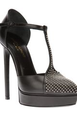 Saint Laurent Tstrap Pump - Lyst