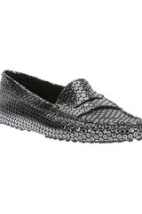 Tod's Metallic Polka Dot Loafer - Lyst