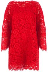 Valentino Boxy Floral Lace Dress - Lyst