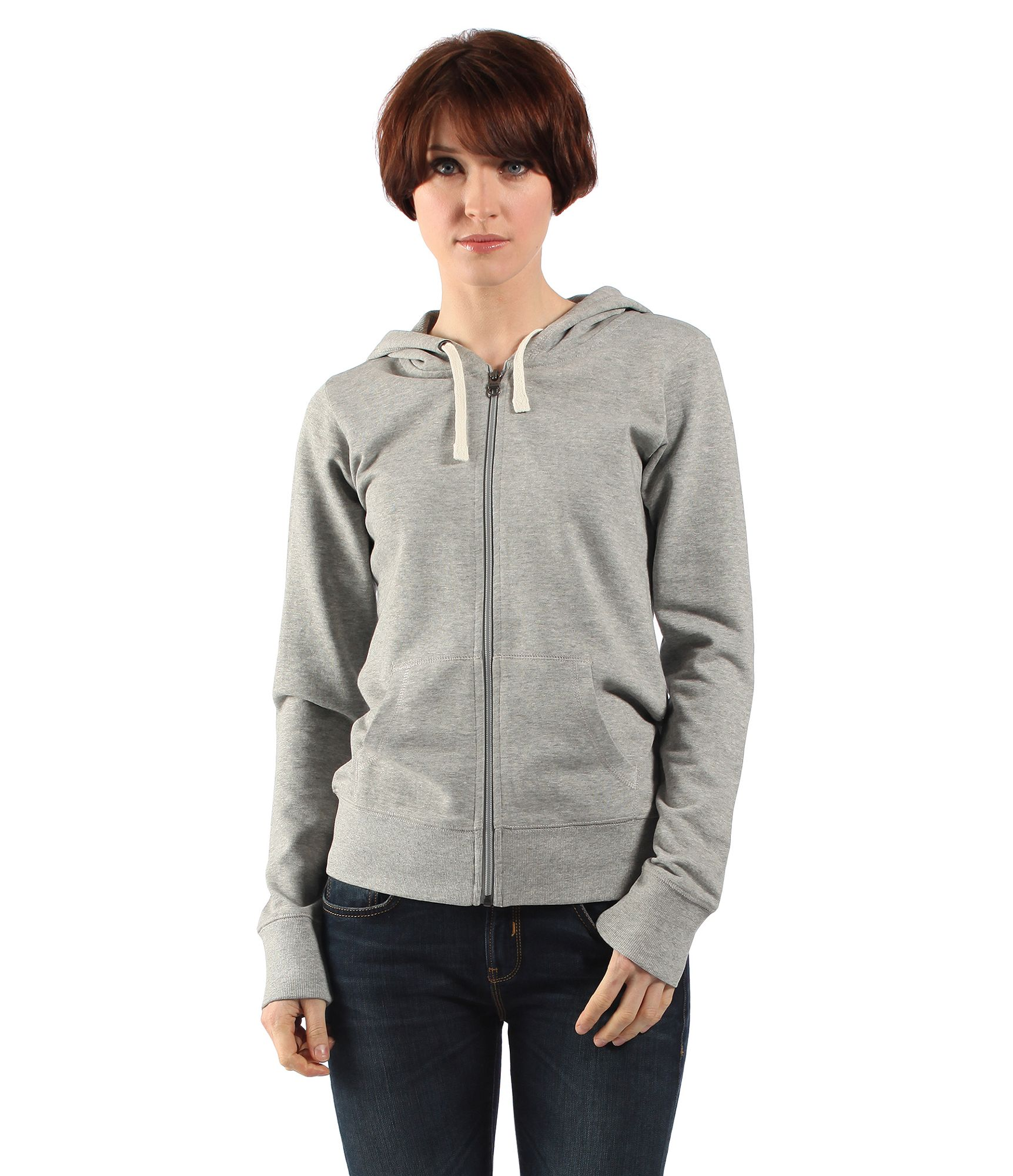 Bench Womens The Hoodie Sweat Jacket In Gray For Men Lyst