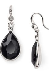 Carolee Faceted Pear Drop Earrings - Lyst