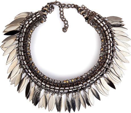 Erickson Beamon Polarized Necklace in Silver (gold) - Lyst
