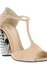 Fendi Spiked Bicolour Pump - Lyst
