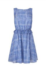 Jaeger Sketch Check Silk Blend Dress - Lyst