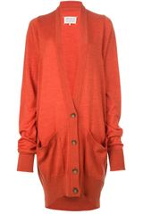 Maison Martin Margiela Long Knitted Cardigan - Lyst