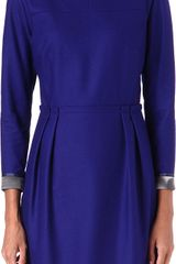 Paul Smith Contrast Hem Wool Dress - Lyst