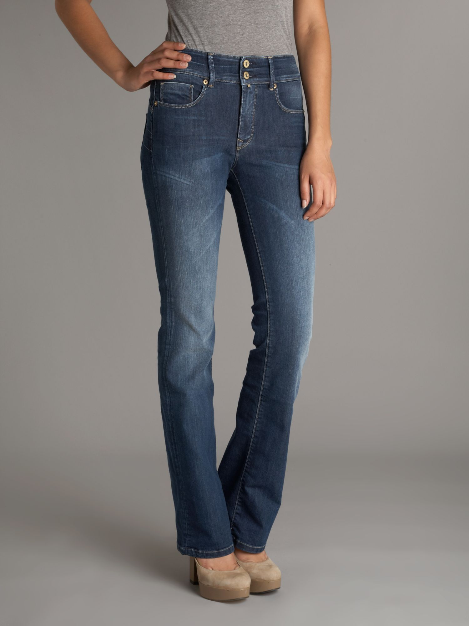 salsa secret pushup bootcut jeans in blue lyst. Black Bedroom Furniture Sets. Home Design Ideas