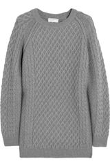 Chinti And Parker Lattice and Cable Knit Merino Wool Sweater - Lyst