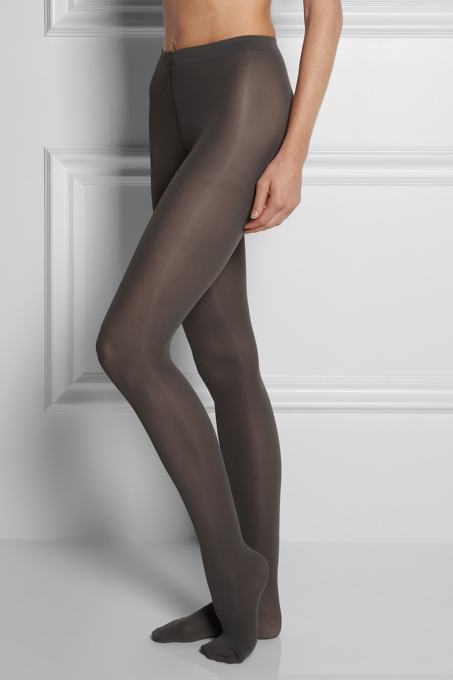 Falke Pure Matt 50 Denier Tights In Gray Lyst
