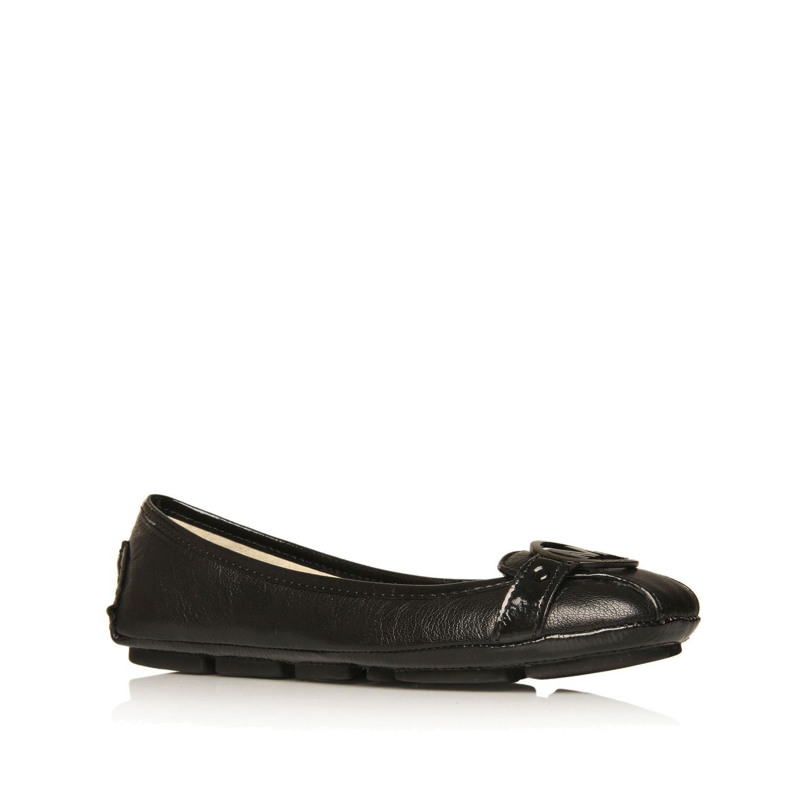 Michael Michael Kors Fulton Moc Ballerina Shoes In Black