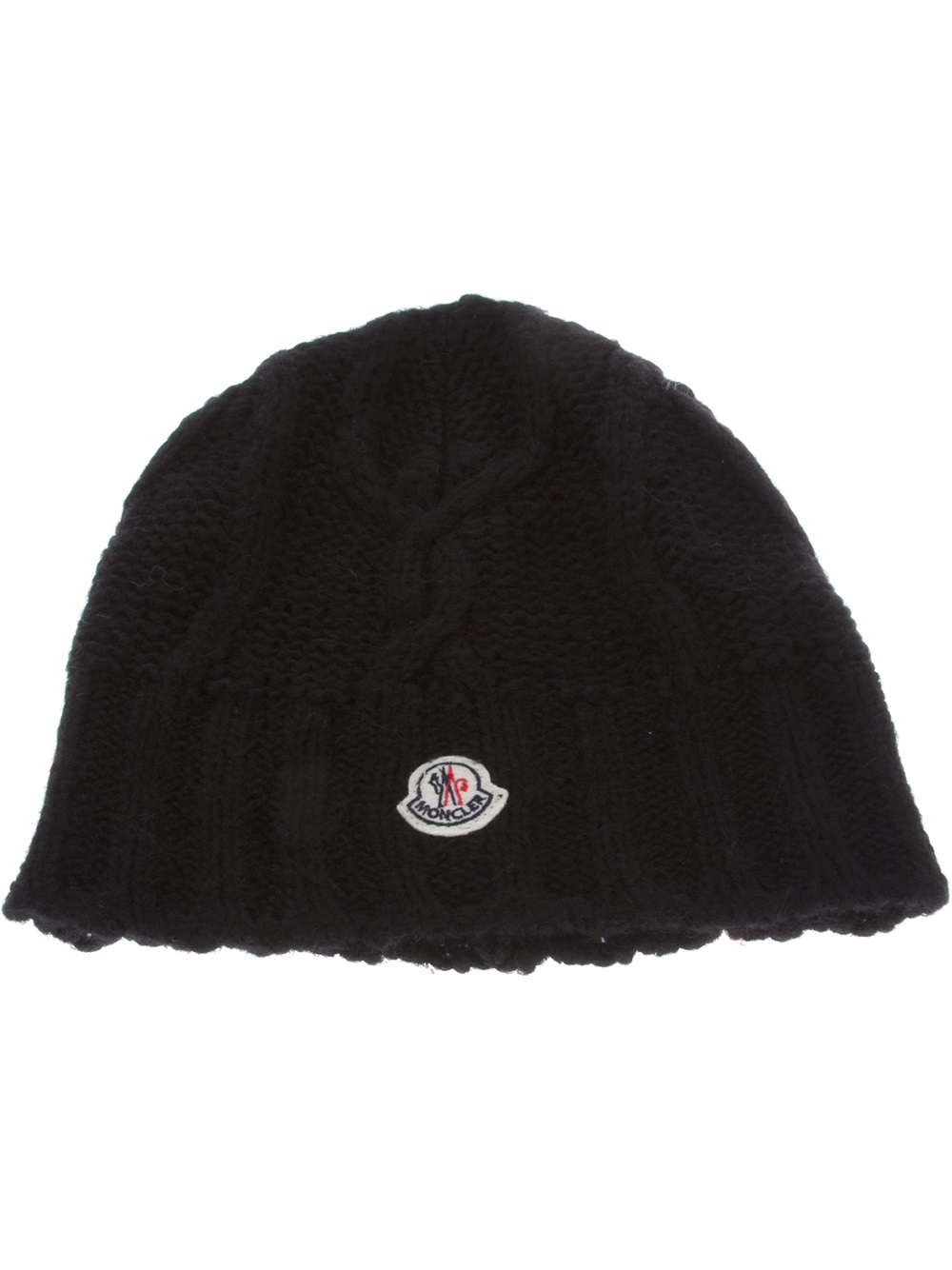 df175a4379f Moncler Beretto Beanie in Black - Lyst