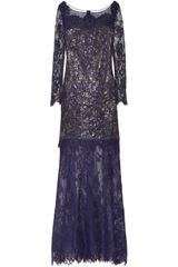 Notte By Marchesa Sequin embellished Lace and Tulle Gown - Lyst