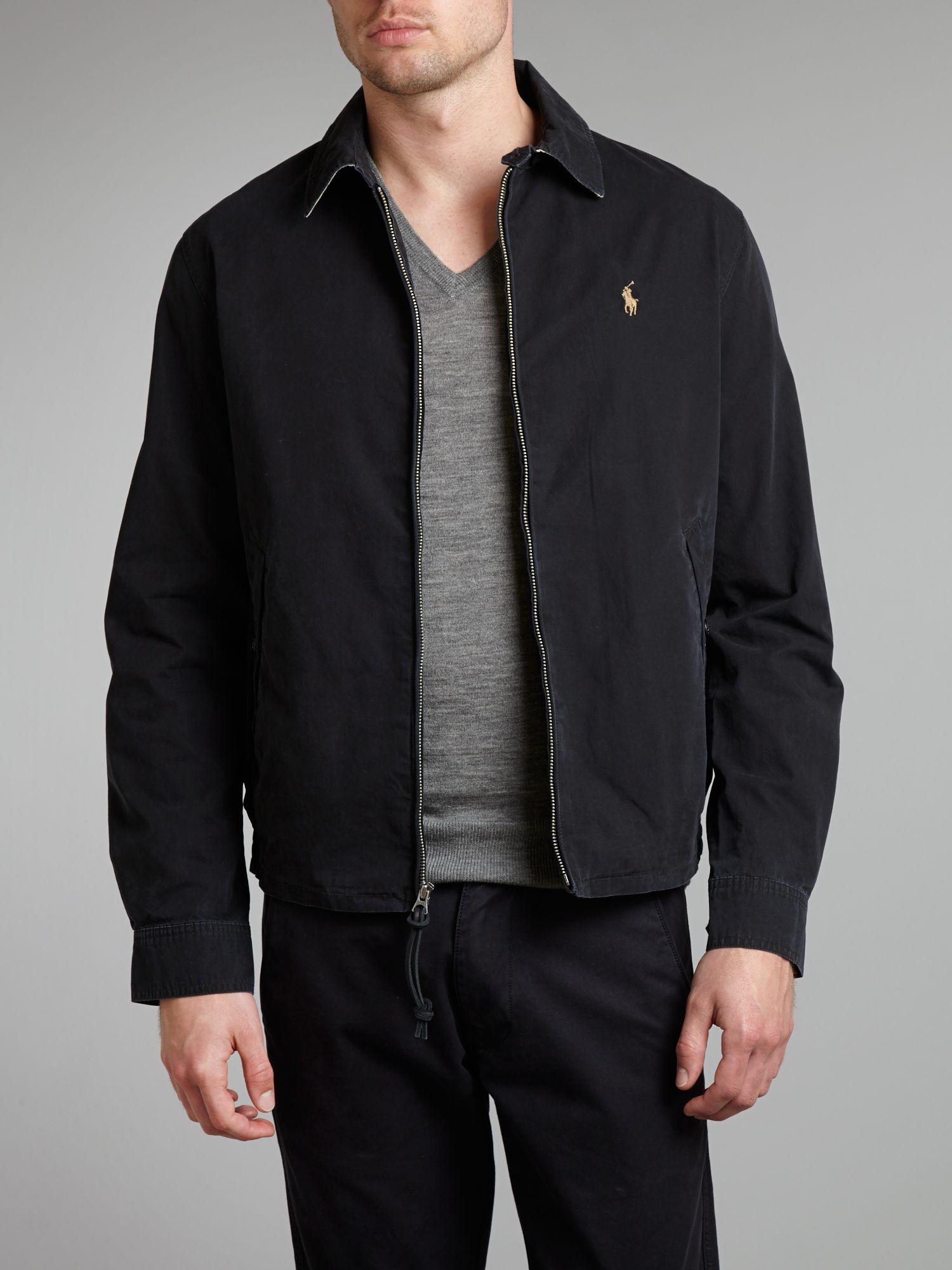 polo ralph lauren shelburne windbreaker jacket in black for men lyst. Black Bedroom Furniture Sets. Home Design Ideas