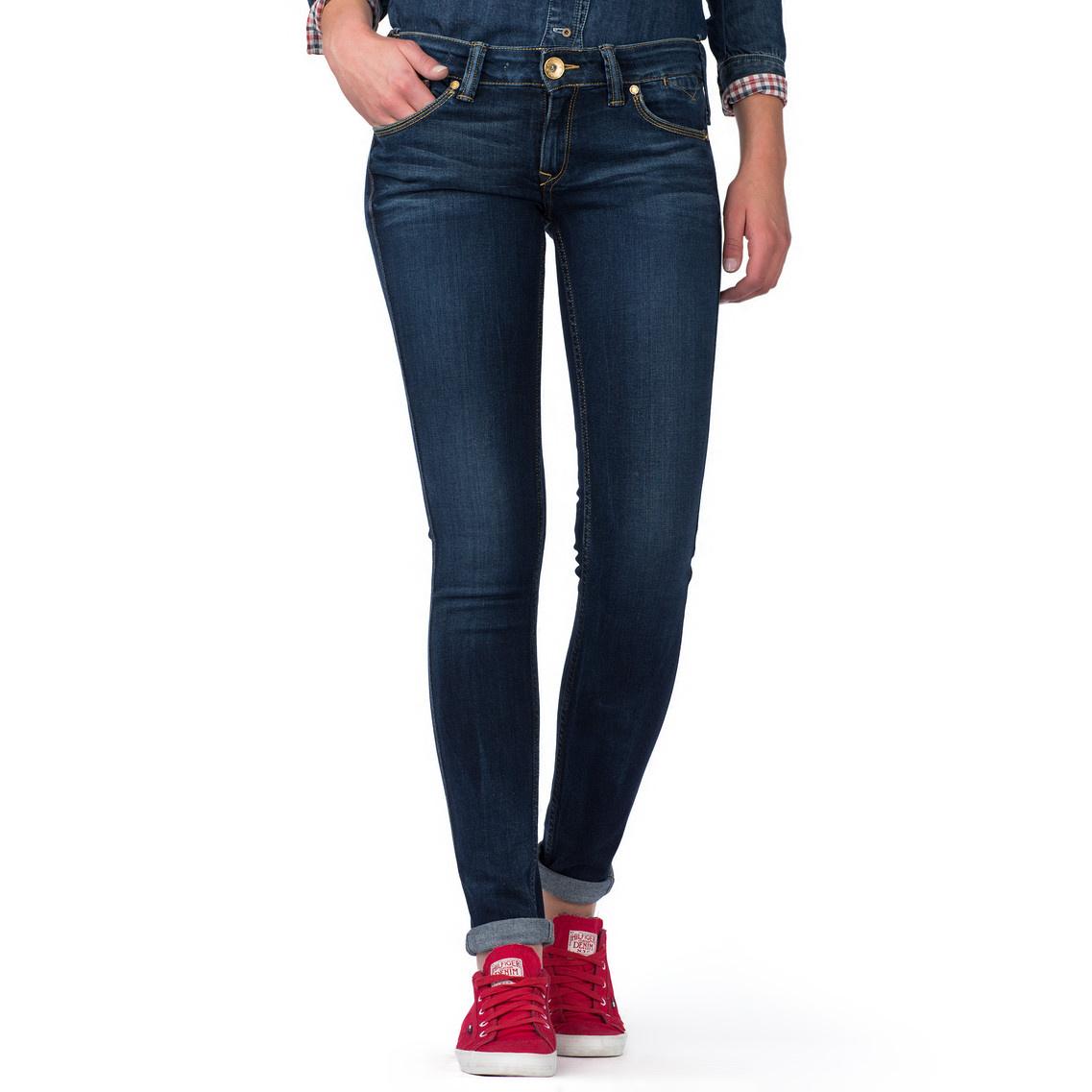 tommy hilfiger sophie super slim fit jeans in blue lyst. Black Bedroom Furniture Sets. Home Design Ideas