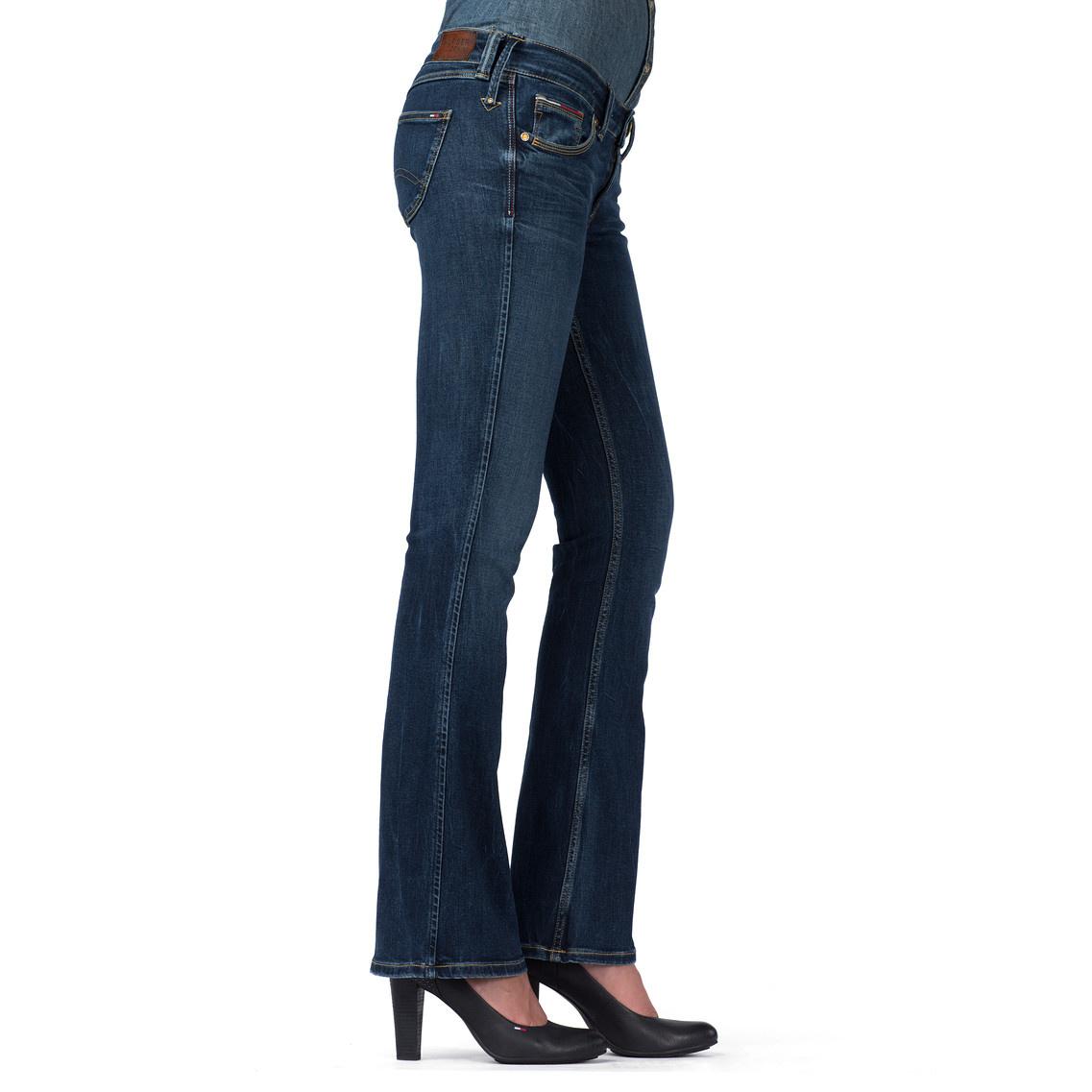 lyst tommy hilfiger sophie boot cut jeans in blue. Black Bedroom Furniture Sets. Home Design Ideas