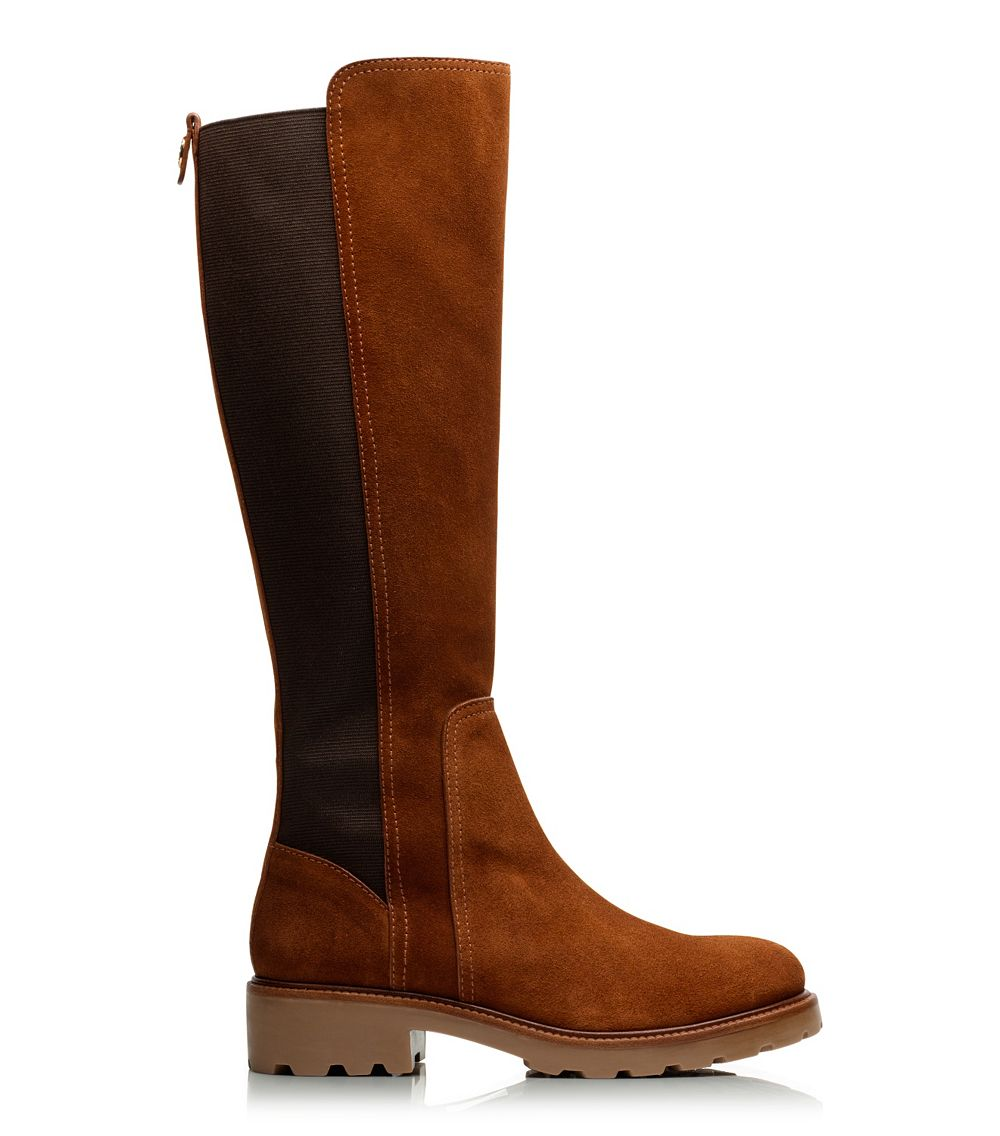 Lyst Tory Burch Landon Boot In Brown