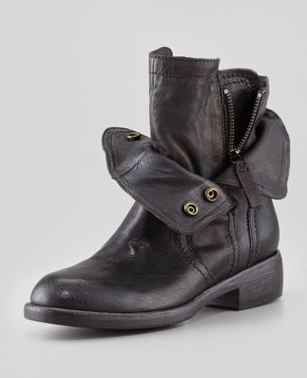 Vera Wang Lavender Ozita Leather Flex Boot Black - Lyst
