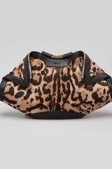 Alexander McQueen Demanta Leopardprint Calf Hair Clutch Bag - Lyst
