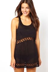 Puma Asos Lattice Cross Back Trapeze Beach Dress - Lyst