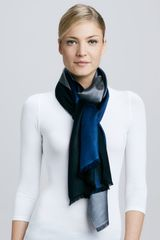 Bajra Horizontal Colorblock Scarf Bluegray - Lyst