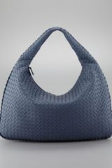 Bottega Veneta Intrecciato Large Hobo Bag Blue - Lyst