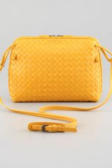 Bottega Veneta Veneta Small Crossbody Bagyellow - Lyst