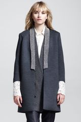 Brunello Cucinelli Coated Monilicollar Long Jacket - Lyst