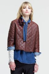 Brunello Cucinelli Boxy Quilted Leather Jacket - Lyst