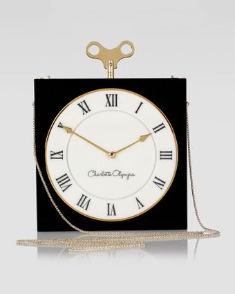 Charlotte Olympia Timepiece Box Clutch Bag Black - Lyst