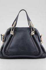 Chloé Paraty Medium Military Shoulder Bag Dark Blue - Lyst