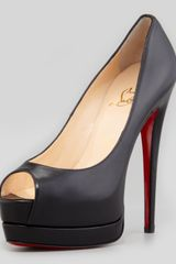 Christian Louboutin Palais Royal Redsole Platform Pump Black - Lyst