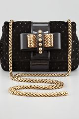 Christian Louboutin Sweet Charity Velvet Crossbody Bag Black - Lyst