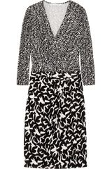 Diane Von Furstenberg Melodi Printed Silk Jersey Wrap Effect Dress - Lyst