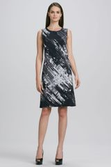 DKNY Sleeveless Abstract Print Shift Dress - Lyst