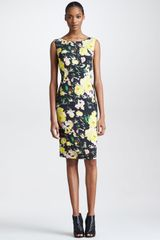 Erdem Fitted Floral Print Sleeveless Dress - Lyst