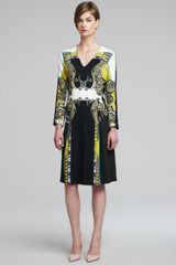 Etro Printed Pleated Bracelet-sleeve Dress - Lyst