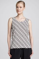 Go Silk Rippleprint Tank - Lyst